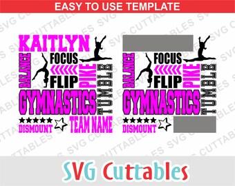 Gymnastics svg, Gymnastics cut file, Gymnastics dxf, Gymnastics Coach, , Subway art, Silhouette, Cricut cut file, Digital download