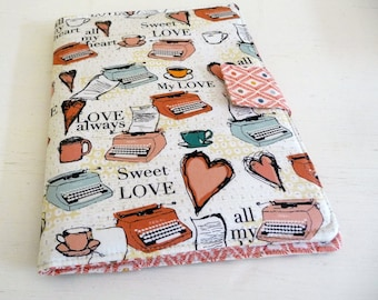 iPad Air 2 Cover, iPad Air Case, typewriters and hearts