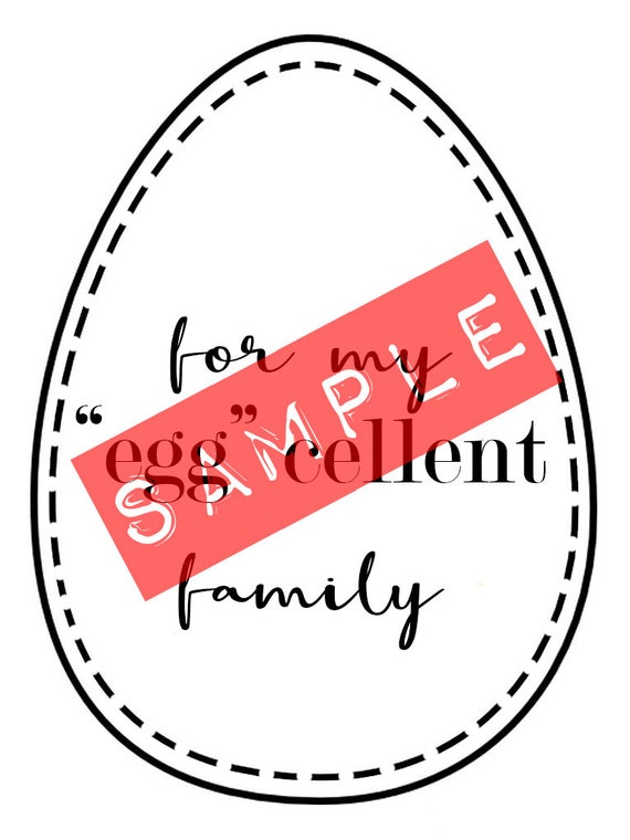 Easter family gift tag print out diy label card negle Images