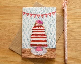Illustrated Celebrate Card