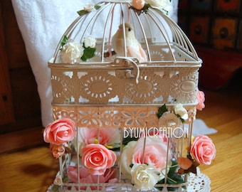 For shabby floral Bird Cage