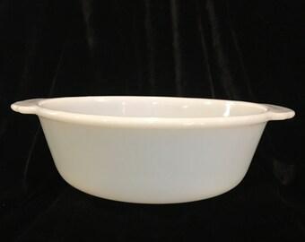 Fire King Milk Glass  1 1/2 Quart Round Casserole - No Lid - 447