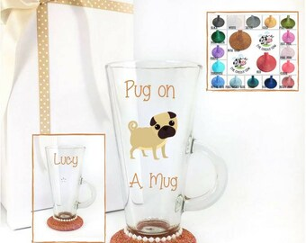 Glass mug personalized, personalised coffee mug, custom coffee cup, coffee glasses, coffee lovers gift, coffee lover mug, irish coffee