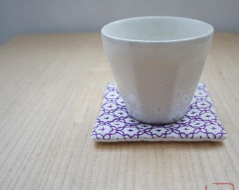 "Handmade coaster ""SASHIKO""  violet"