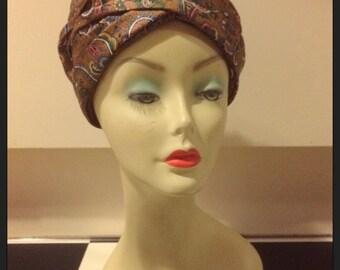 ATEMBERAUBENDE Vintage 1960 Paisley Muster Turban