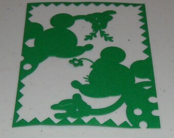 Mickey Mouse face card plain - 2 to a pack