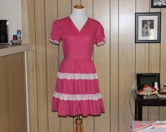 Kate Schorer pink vintage square dance dress