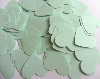 Mint Green Paper Heart Confetti, Wedding Confetti Baby shower confetti Party Events Decorations
