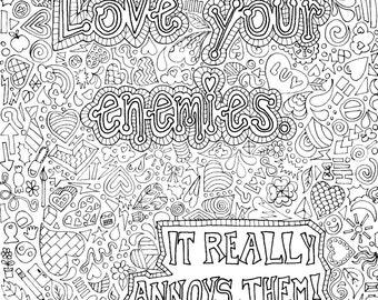 Love your enemies Etsy
