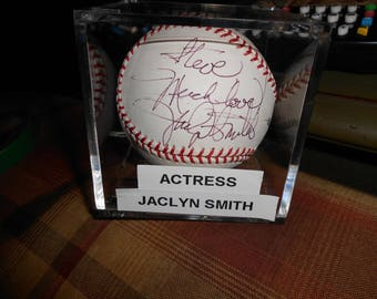 JACLYN SMITH SIGNED charlies angels baseball/psa/dna