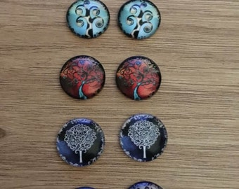 """set of 10 cabochons 20 mm """"tree of life"""""""