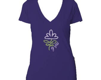 SPRING SALE! Grow Next Level Triblend V Neck Tee