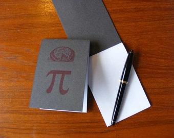 Pi Pie Letterpress Notepad