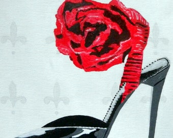 High Heel Jimmy Choo Red Rose