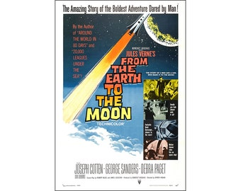 From The Earth To The Moon Movie Poster Print - 1958 - Sci-Fi - 1 Sheet Artwork