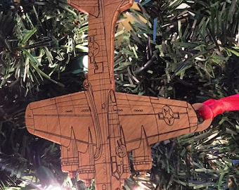 B-17 Wooden Ornament