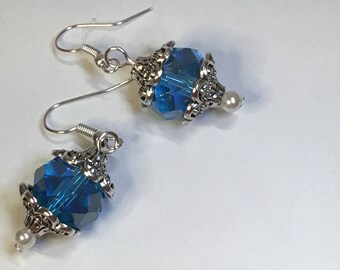 Tahiti Babe Blue and Silver Earring