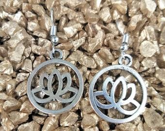 Lotus Charm Earrings