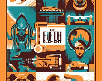 THE FIFTH ELEMENT Screen Printed Poster