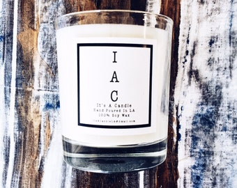 IAC • Fresh Panties • 100% Soy Wax Candle • Fresh Linen+Rain