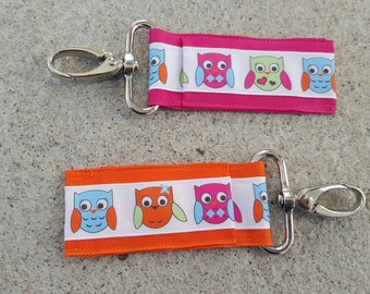 Colorful owls lip balm holders