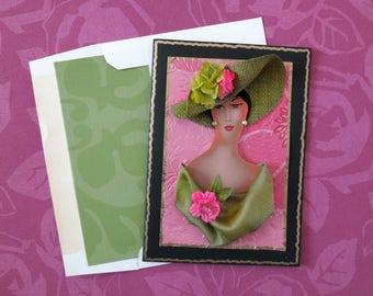 AKA mother's day card, African American card, AKA card,church hat card,Easter parade card,Church lady card,Church lady hat card, Kamelhair