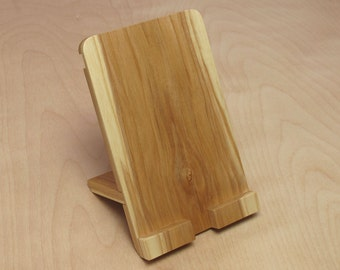 iPad iPhone Stand Handcrafted Wood - Ash #1