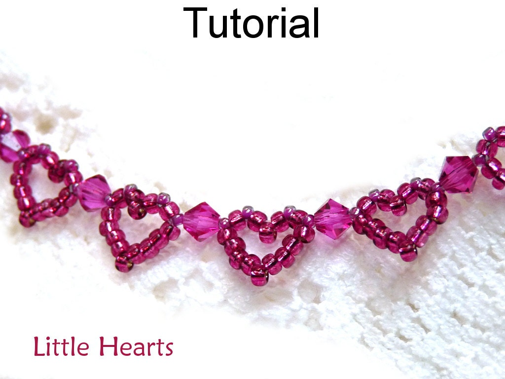 Jewelry making beading pattern beaded heart bracelet tutorial this is a digital file baditri Image collections