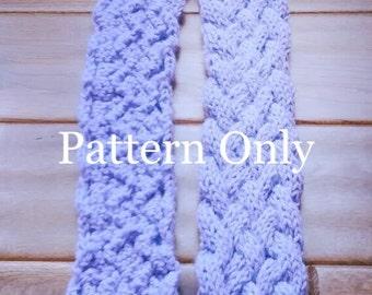 Knit Scarf Pattern, Child's Knit Pattern, DIY