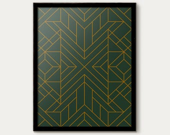 Awesome Art Deco Print, Art Deco Poster, Art Deco Decor, Art Deco Pattern Print