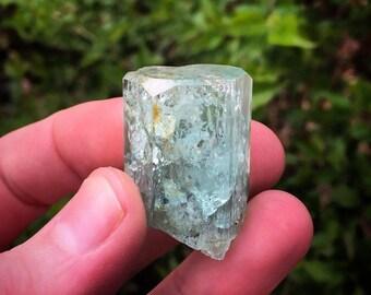 Erongo aquamarine crystal with fancy top termination