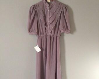 LAVENDER day dress | pleated top mini dress