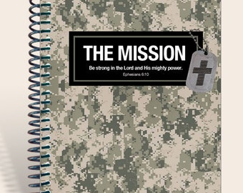 Armed Forces Green Camo / Gift for Soldier / Personalized Prayer Journal