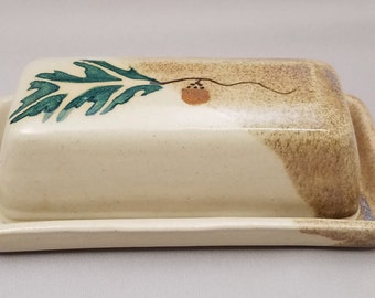 Covered Butter Dish by Stegall's Pottery