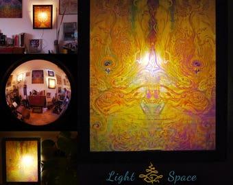 Mirage Fountain - Handmade Art Lightbox - Lightmirror - Artprint- Custommade - Various Designs