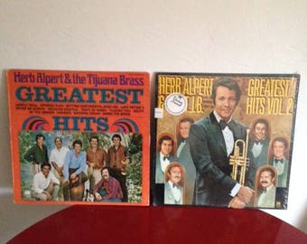 Herb Alpert and the Tijuana Brass 2 Vinyl Records Greatest Hits Two Volumes