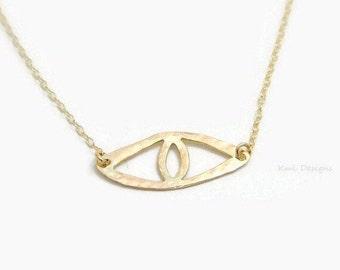 Evil Eye Necklace, Evil Eye Jewelry, Statement Necklace, Evil Eye Pendant, Eye Necklace, Hamsa Necklace, Cat Eye Necklace, Minimal Necklaces