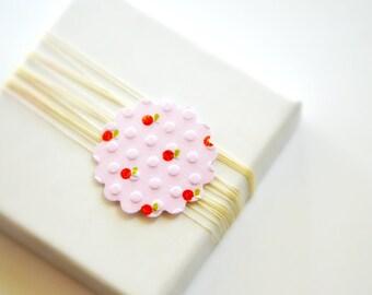 Apple Envelope Seals {10} Pale Pink Scalloped Seals   Pattern Envelope Stickers   Pink Seals   Embossed Gift Seals   Pink Gift Seals