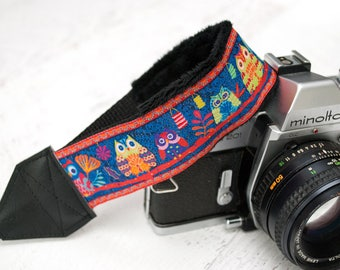 Camera Wrist Strap - DSLR Camera Strap - Camera Accessories - Nikon - Canon - Sony - Photographer Gift - Hand Camera Strap - Blue Owl