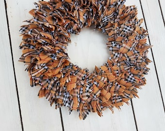 Tartan wreath, plaid wreath, door wreath, christmas wreath