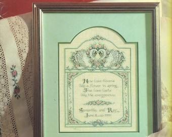 WHEN LOVE BLOOMS Wedding Sampler Designs Counted Cross Stitch Diane Brakefield Leisure Arts 2023