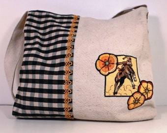 Handmade Bag Bronco Squash Blossom Bemis Grain Sack