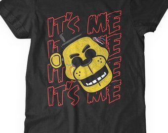 New FNAF Five Nights at Freddy's Shirt Golden Freddy It's Me Phantom Freddy Youth Kids Shirt and Toddler Shirt Sizes