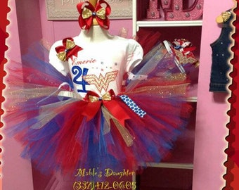 Wonder Woman Tutu Set