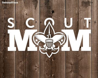 Scout Mom - Vinyl Decal Car Decal Laptop Decal Yeti Decal Water Bottle Decal Gift for Friend Mother's Day Gift Scouting Parenting Proud Mom