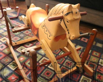 1940s BOUNCY WONDER HORSE Toy