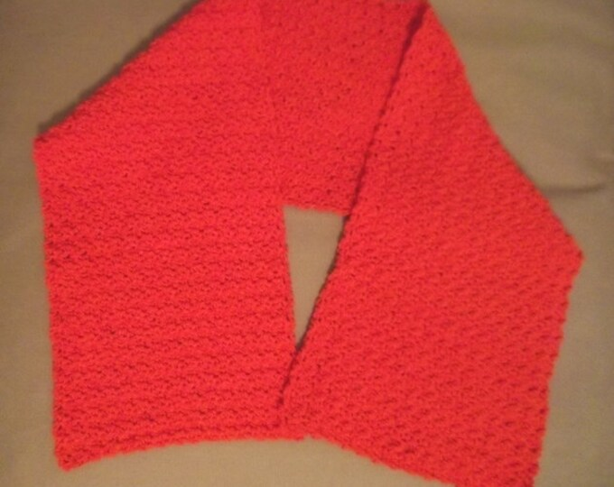 Scarf - Crochet Scarf in Orange