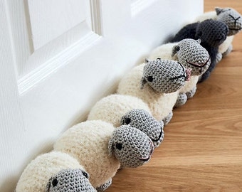 Sheep draught excluder/doorstop amigurumi crochet pdf pattern **Instant download Pattern only**