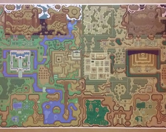 Zelda map etsy zelda gigantic 48 x 24 poster print link to the past lightdark world map nintendo video game rpg gumiabroncs Image collections