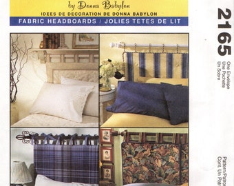 McCall's 2165 FABRIC HEADBOARDS Twin Double Queen King Bedroom Decorating